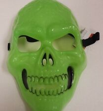 Green Skeleton Face Mask Halloween Masquerade Party Costume Mask Props