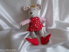 Doudou souris gris et rouge, Ikéa, Blankie/Lovey/Newborn toy