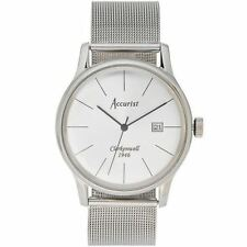 Accurist Mens Watch Silver Dial Stainless Steel Case & Bracelet MB1034S RRP £90