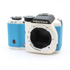 EXCELLENT!! INEXPENSIVE!! PENTAX  K-01 BODY  WHITE  and BLUE  A+++++