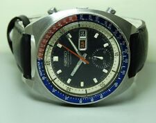 VINTAGE SEIKO CHRONOGRAPH AUTOMATIC DAY DATE MENS WATCH 380677 USED ANTIQUE B869