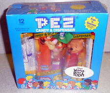 PEZ WINNIE THE POOH 12 Count COUNTER DISPLAY Mint In Pack PEZ With Candy!