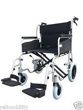 Z-Tec Aluminium Extra Wide Heavy Duty Bariatric Transit Wheelchair