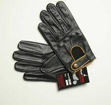 LARGE Genuine Leather Soft Driving Gloves  POLICE GLOVES -chauffeur gloves