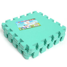 Light Green EVA Foam Interlocking Mat 9 pcs Play Puzzle Eco Foam Practical