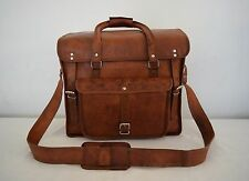 "18x15x9"" Real Leather Weekend Traveling Bag Aircabin Luggage Bag Hold-All Bag"