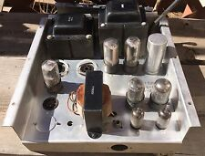 SWEET 1955 Lowrey Tube Amplifier Chassis 6L6 6SN7 12AU7 Guitar Amp Project