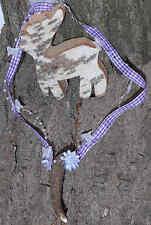 ♛ Lila-weißes Trachtenband mit echtem Krickerl Halsschmuck zum Dirndel ♛