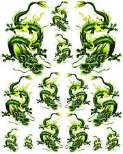 Rockabilly Tattoo Art Guitar Dragon Waterslide Decal 4  #48