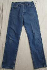 Wrangler 13MWZ Denim USA Made Jeans Dark Tag 31x34 Measure 30x33 Cowboy Vtg
