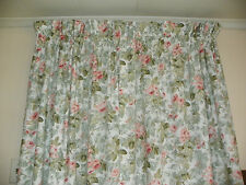 "LAURA ASHLEY ""COTTAGE ROSE""  PAIR OF LINED DRAPES -84"" LONG-NO FADE"
