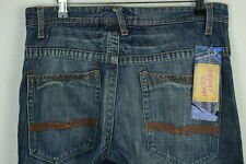 Linea UOMO JEANS NEXT W 32 L 30 (West Shore Denim) dritto BOTTONE eccellente P5