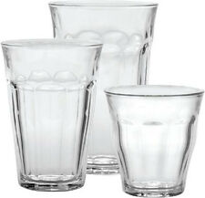 French Bistro Picardie Glass Tumblers 18 Pc Set, Duralex,