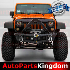 07-17 Jeep Wrangler JK Stinger HD Rock Crawler Front Bumper+4x LED Light Mount
