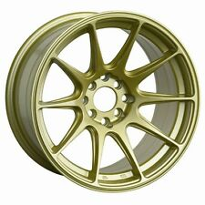 "18X8.75"" XXR 527 WHEELS 5X100/114.3 GOLD RIMS ET35MM FITS STI SEDAN IMPREZA WRX"