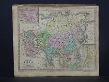 Antique Map 1843 Smiths Geography, Asia China Japan India Arabia Persia Turkey