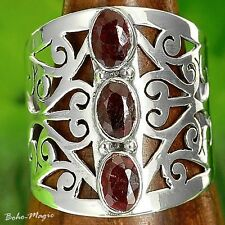Ruby Sterling Silver 925 Ring Gemstone Unique Chic Boho New Genuine Gem Net