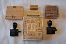 Lot of 33 Rubber Stamps Wedding Romance Scrapbooking Crafts GUC Stampabilities