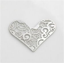 New Floating charm 28mm 1Pcs silver Heart for glass Living Memory Locket
