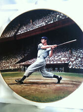 Vintage 1993 Joe DiMaggio Collectable Plate 8in Bradford Exchange Plate #14423C