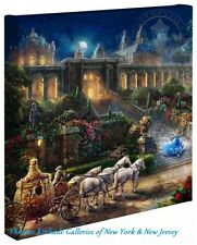 "CINDERELLA Clock Strikes Midnight - Thomas Kinkade 14"" x 14"" Gallery Wrap Canvas"