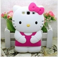Cover CUSTODIA case per SAMSUNG GALAXY S3 Silicone HELLO KITTY 3D
