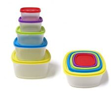 10 Pcs Always Fresh Plastic Food Storage Containers Set With Color Coded Lids