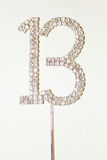 Number 13, Large Diamante Cake Topper. Stunning for Birthday Celebration Cakes