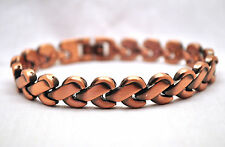 LADIES 7.75 IN. HEALING MAGNETIC THERAPY LINK BRACELET: Copper Rope; Helps Pain!