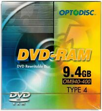 5-Pak 9.4GB Optodisc 2X DVD-RAM in Type-4 Cartridge with Hard Coat Surface!