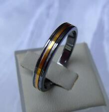 WOLFRAM/TUNGSTEN CARBIDE SMAL RING  - 3,5 MM BREIT - GOLD PLATED  - TITAN HART
