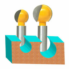 """2PC 1/2"""" SH 3/4"""" and 1"""" Diameter Plunging Ball End Router Bit   sct-888"""