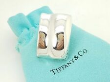 Tiffany & Co. Sterling Silver Puffy Rectangle Single (1) Clip On Earring w/Pouch