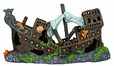Wooden Galleon Shipwreck Fish Tank Cave Ornament Aquarium Decoration