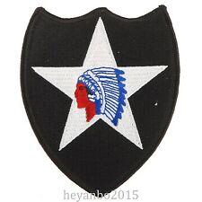 WW2 U.S. US Army Indian Division On Five Point Star Infantry Patch Color Black