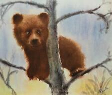 Robert Ravelle UP A TREE Vintage 1971 Lithograph CUTE Bear Midcentury 10