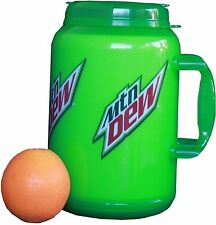 64 Oz Mountain Dew Plastic Insulated Travel Mug Whirley Drink Works FREE SHIP
