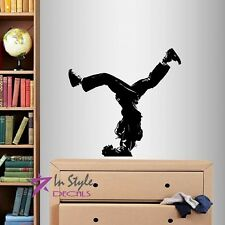 Wall Vinyl Decal Break Dancer Hip-Hop Guy Jumping  Dance Studio Wall Sticker 371
