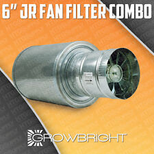 "6"" CARBON FILTER FAN COMBO KIT EXHAUST INLINE DUCT SCRUBBER ODOR CONTROL 6 inch"