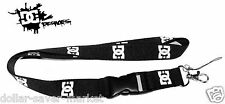 DC Shoes *Black Lanyard ID Holder Keychain cell phone Skateboard BMX  WAKE Surf