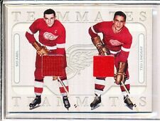 2004/05 ITG IN THE GAME TEAMMATES SID ABEL & TED LINDSAY GAME-USED SILVER