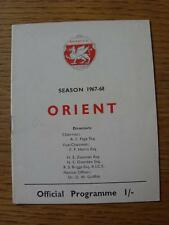 16/12/1967 Leyton Orient v Grimsby Town  (Item in very good condition, no obviou
