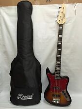 Brand New JR RN 3TS 4 String Bass Guitar New Sunburst, Free Gig Bag