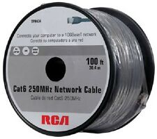 AUDIOVOX TPH634 100' GRAY CAT6 CAT-6 250MHz 10GBaseT NETWORK CONNECTION CABLE