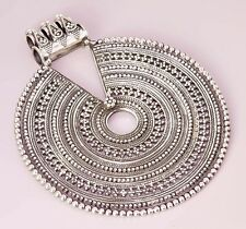 FINE EDH BALI STYLE VINTAGE LOOK DESIGN 925 STERLING SILVER JEWELRY PENDANT