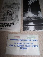 Kennedy Space Centre Brochure and Ticket-1980's