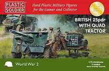 BRITISH 25PDR & MORRIS QUAD TRACTOR - PLASTIC SOLDIER COMPANY 1/72