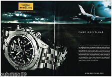 Publicité Advertising 2010 (2 pages) La Montre Breitling Blackbird