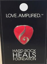 Hard Rock Cafe ONLINE 2016 HR HEALS FOUNDATION Series PIN CARD Guitar Pick LOGO