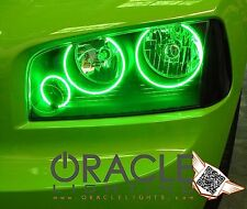 2005-10 Dodge Charger Oracle Triple Ring LED Halo Headlight Light Kit (Green)